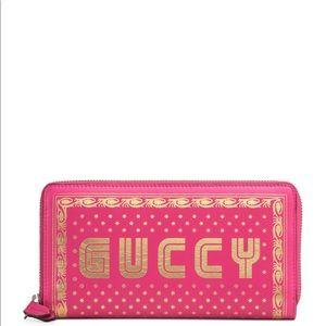 Gucci Guccy Moon&Stars Sega All around zip Wallet